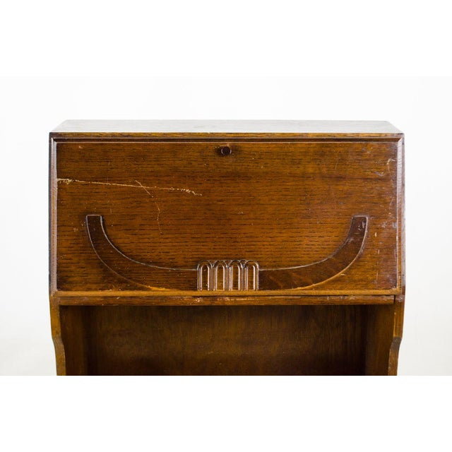 Brass 19th Century English Traditional Stand-Up Desk Bookshelf For Sale - Image 7 of 13