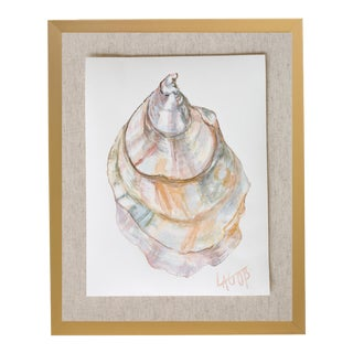 "Contemporary Oyster Watercolor Painting on Paper ""East Coast Vi"" by Leigh-Anne O'Brien (Lagob), Framed For Sale"