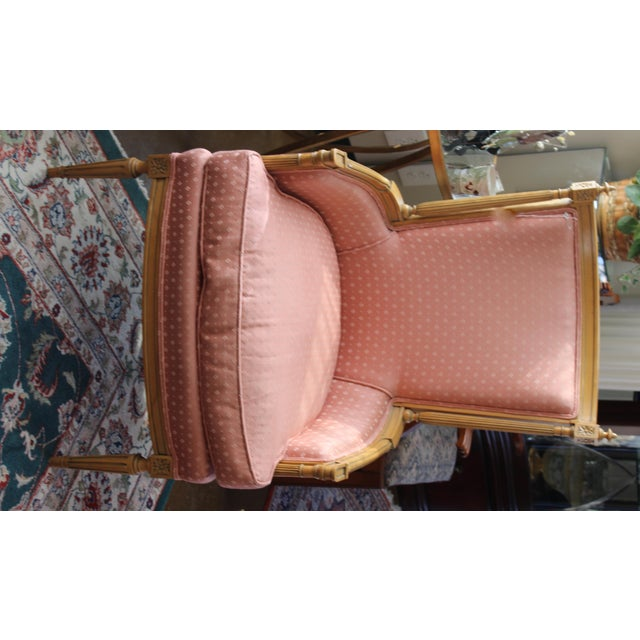 Vintage Salmon Armchairs - A Pair - Image 5 of 8