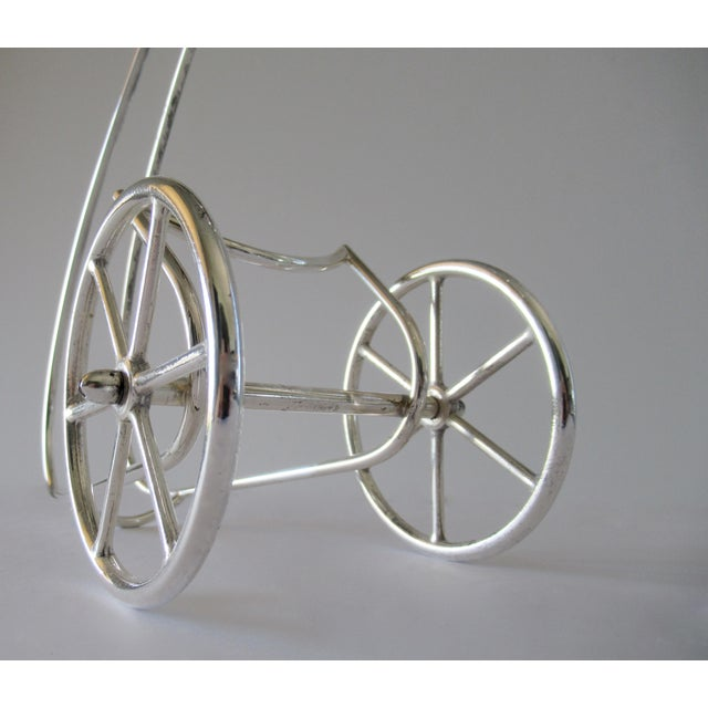 Mid 20th Century Mid Century Italian Silver Wine Decanter Rolling Roman Chariot Wagon Trolley For Sale - Image 5 of 13