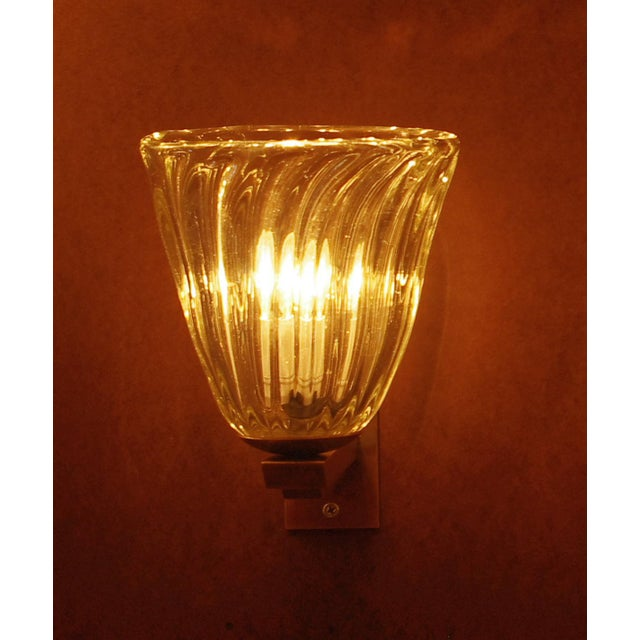 Mid 20th Century Single Bell Sconce by Barovier E Toso Final Clearance Sale For Sale - Image 5 of 10