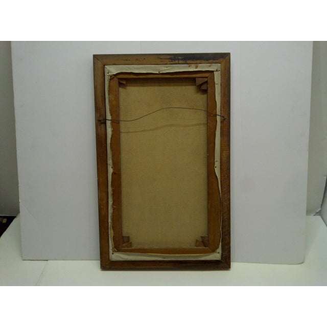 "Brown 1960s ""The Painters Boyfriend"" Signed Framed Painting on Canvas by Frederick McDuff For Sale - Image 8 of 9"