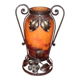 Muller Frères Lunéville French Art Nouveau Vase For Sale