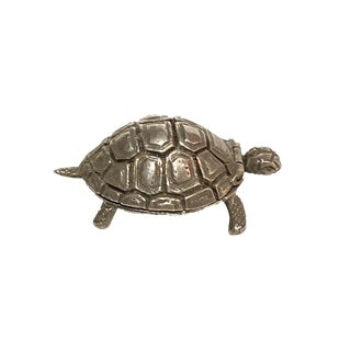 Sterling Silver Turtle Box For Sale