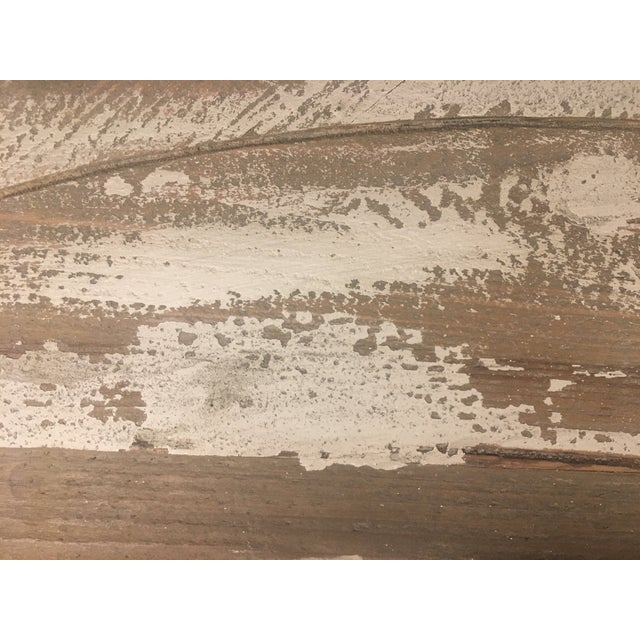Distressed Grey Demi-Lune Cabinet For Sale - Image 9 of 12