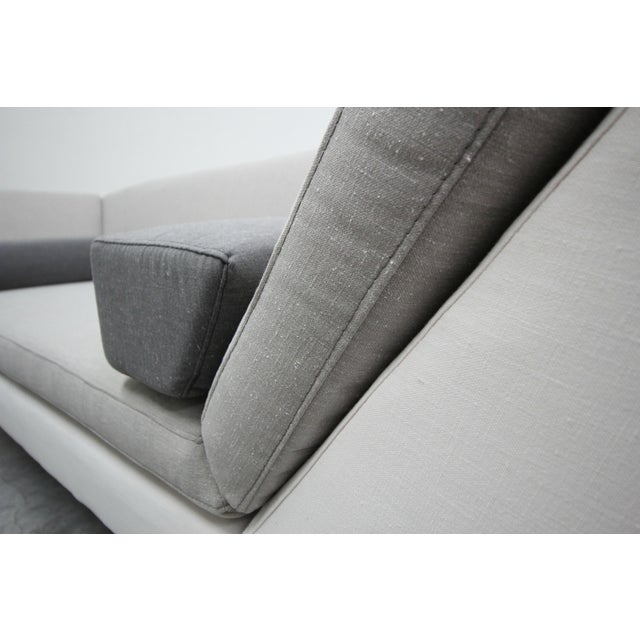 Post Modern Geometric Sofa and Chair With Ottoman Set by Thayer Coggin For Sale - Image 10 of 13