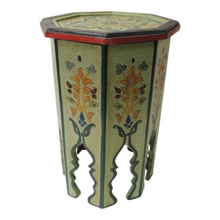 Hand Painted Moroccan Drinks Table