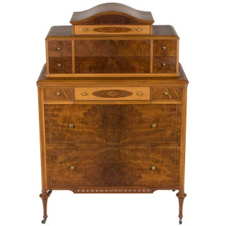 1940s Vintage Art Nouveau Style Chest of Drawers For Sale