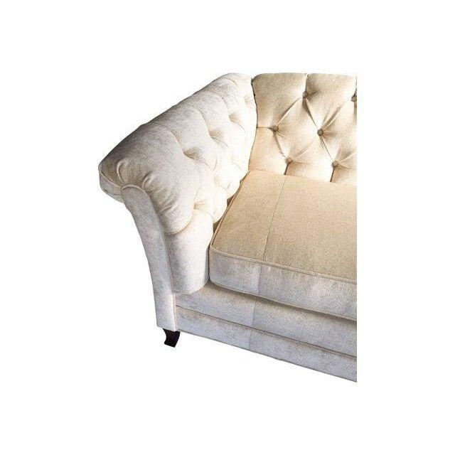 Hodsoll McKenzie Ivory Chesterfield Sofa - Image 3 of 10