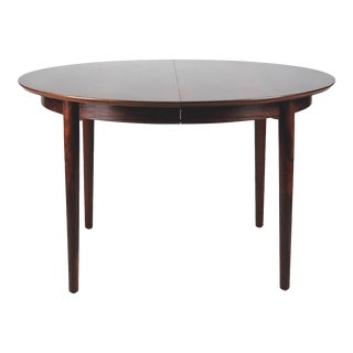 Vintage Danish Rosewood Round Dining Table For Sale