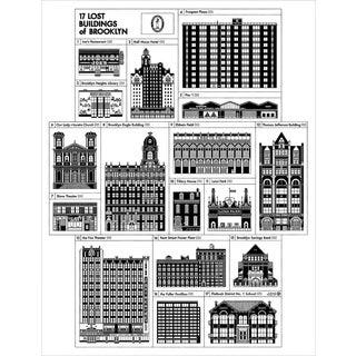 Demolished Buildings of Brooklyn Poster For Sale