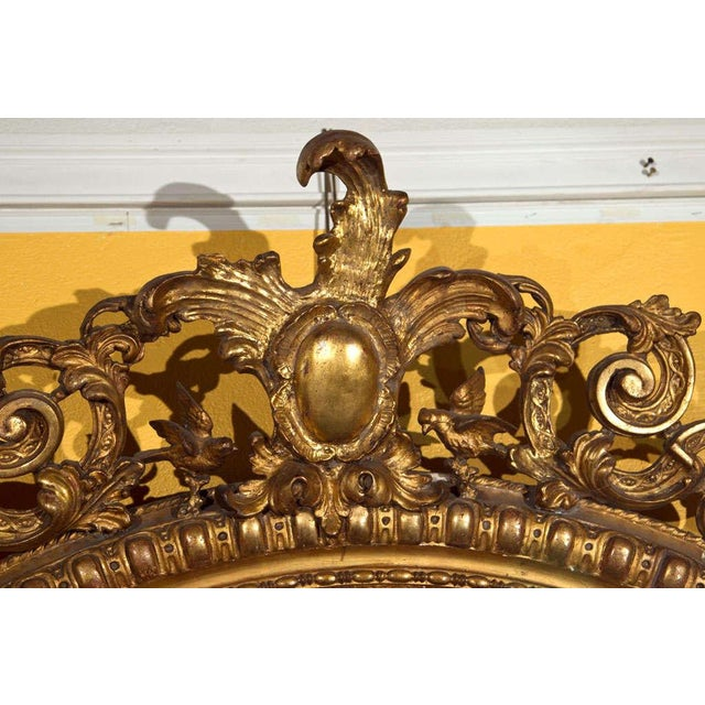 Vintage French Giltwood Mirror For Sale - Image 4 of 6