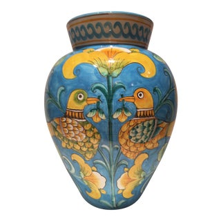 Italian Faience Vase Signed Barrolicelli For Sale