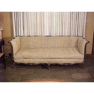 1920s Vintage French Country or Louis XV Style Finely Carved Walnut Sofa Preview