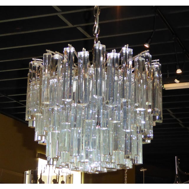 1960s 1960s Mid-Century Modern Lush Camer Glass Chandelier For Sale - Image 5 of 11