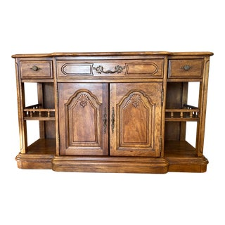 Vintage French Wooden Credenza For Sale