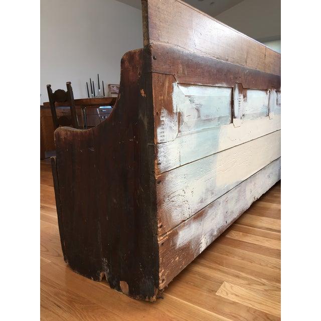 Antique Wooden Storage Bench - Image 3 of 8