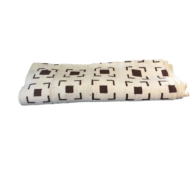 Brown and White Mud Cloth Textile Mali For Sale