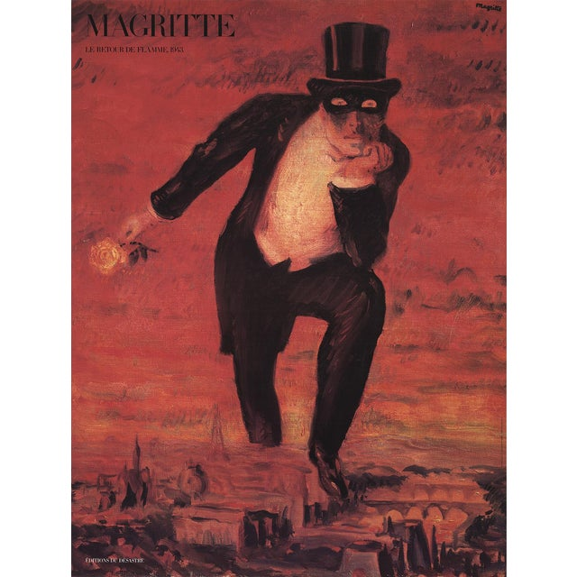 """1989 Rene Magritte """"The Return of the Flame"""" Poster For Sale"""