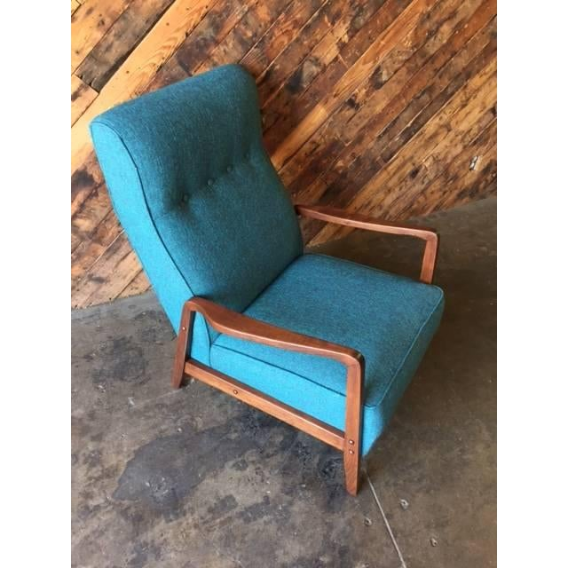 Mid-Century Sculpted Reupholstered Chair - Image 4 of 6