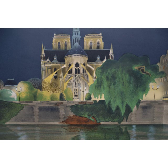Vintage Notre-Dame de Paris Color Lithograph Signed / Numbered c.2004 Stunning color and light in this beautiful print....