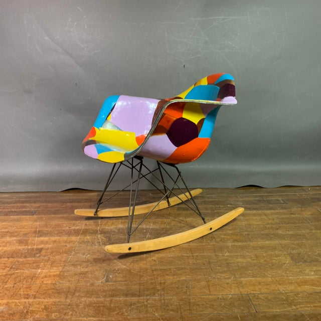 1950s Jim Oliveira for Eames Rope Edge Rocking Chair For Sale - Image 13 of 13