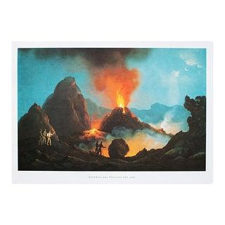 """1964 """"Interior of Vesuvius in 1831"""", Original Lithograph For Sale"""