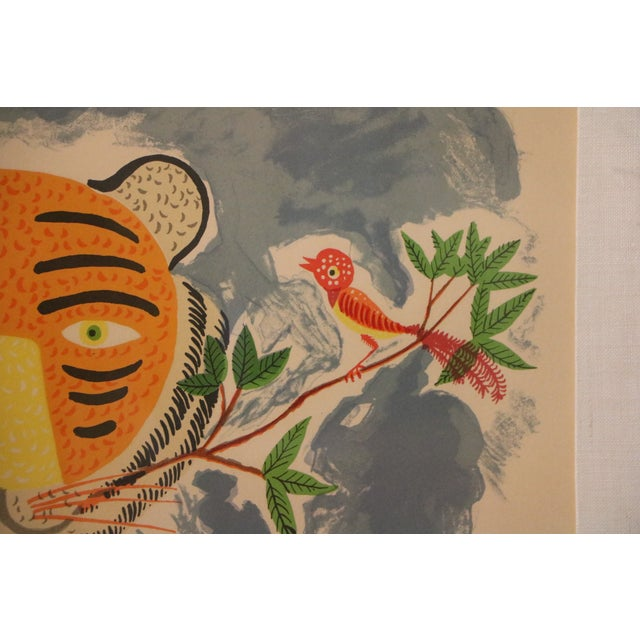Tiger & Bird Lithograph by Henri Maik - Image 6 of 8