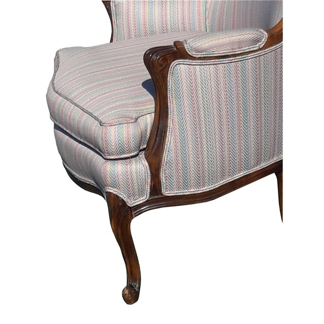 1950s 1950s French Provincial Walnut Bergere Chair For Sale - Image 5 of 8