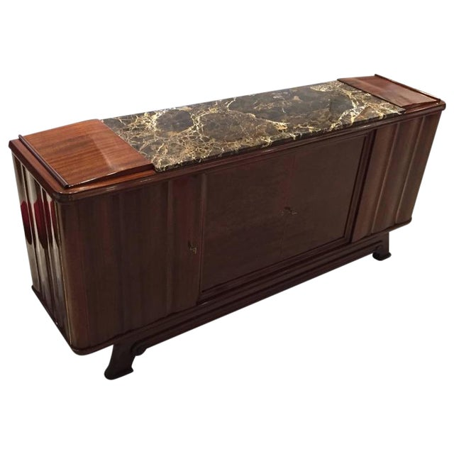 French Art Deco Numbered Gaston Poisson Buffet For Sale