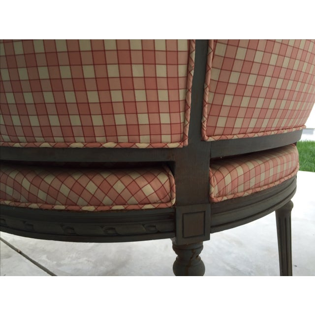 Vintage French Pink & White Bergere Chair - Image 6 of 6