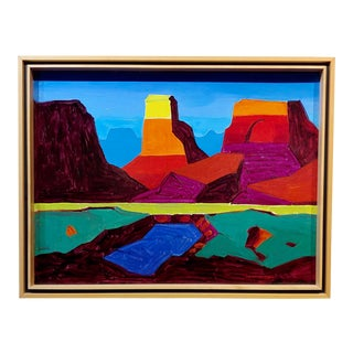 Conrad Buff - Monument Valley Landscape - Oil Painting For Sale