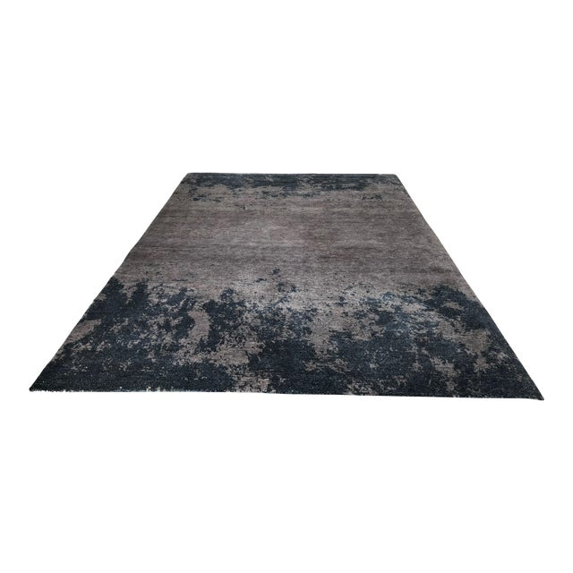 Atelier Lapchi Nebulous Gray Wool Hand Knotted Rug - 8' X 11' For Sale