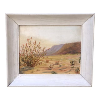 1939 Vintage Bumgarner Southwestern Oil Painting For Sale