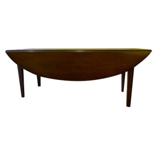 Kittinger English Oval Drop-Leaf Coffee Table For Sale
