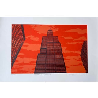 Hiroshi Ariyama Serigraph 'Wells & Quincy' For Sale