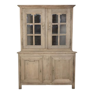 19th Century Country French Louis XVI Corner Cabinet For Sale
