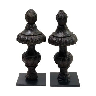 Cast Iron Finial Bookends - a Pair For Sale