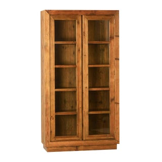 Wood & Glass Storage Cabinet
