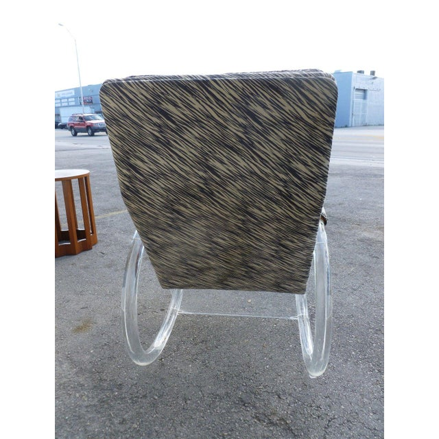 1970's Vintage Hollis Jones Lucite Rocking Chair For Sale In Miami - Image 6 of 9