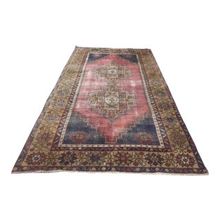 "Vintage Turkish Rug-3'8x6'10"" For Sale"