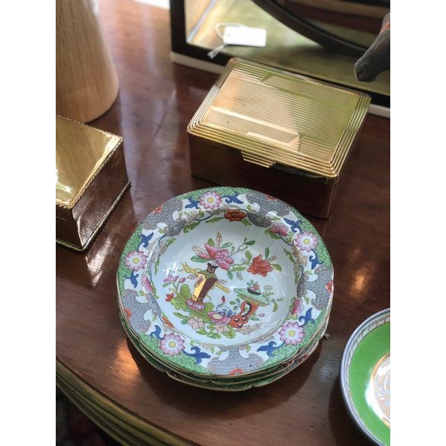 Ceramic Antique Floral Detail Ironstone Bowls - Set of Four For Sale - Image 7 of 10