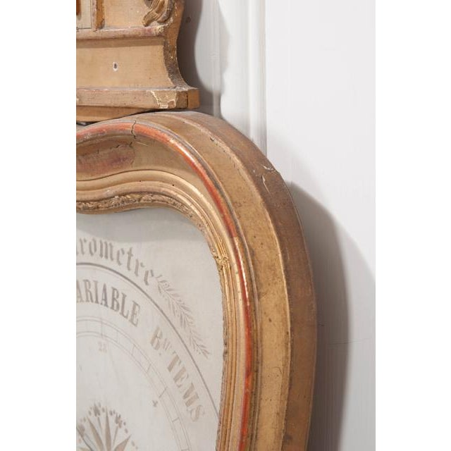 French 19th Century Gold Gilt Barometer For Sale - Image 10 of 13