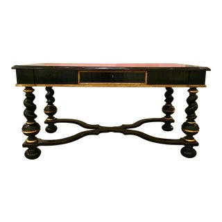 Italian Ebony Wood Desk