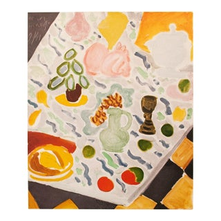 "1946 Henri Matisse, Original Period ""Still Life on Marble Table"" Parisian Lithograph For Sale"