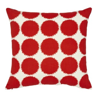Contemporary Schumacher Fuzz II X Studio Bon Indoor/Outdoor Pillow in Red - 18ʺw × 18ʺh For Sale