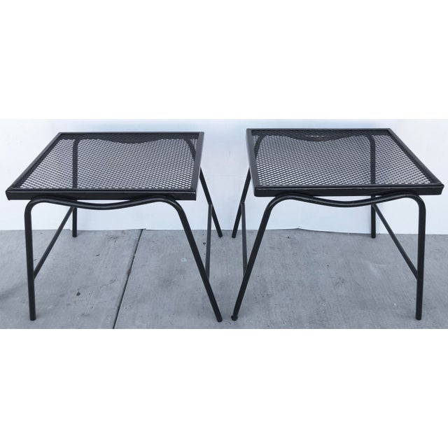 Black Mid-Century Modern Side Tables - a Pair For Sale - Image 8 of 8