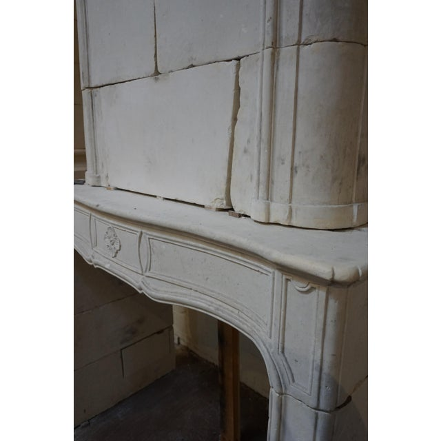French 18th Century Limestone Mantel with Trumeau For Sale - Image 3 of 7