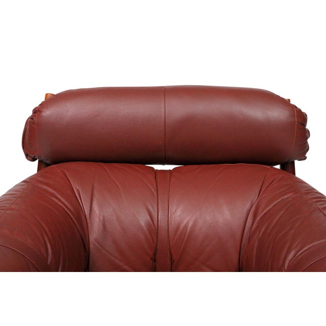 Brazilian Leather Lounge Chair by Percival Lafer For Sale - Image 10 of 13