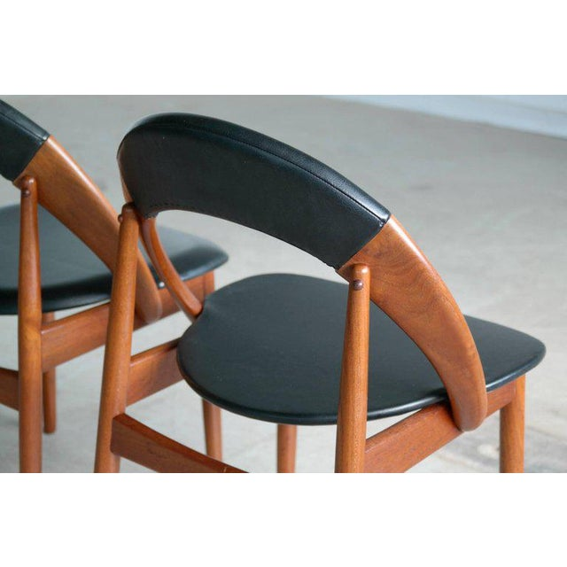 Animal Skin Mid-Century Modern Dining Chairs by Arne Hovmand Olsen - Set of 6 For Sale - Image 7 of 10
